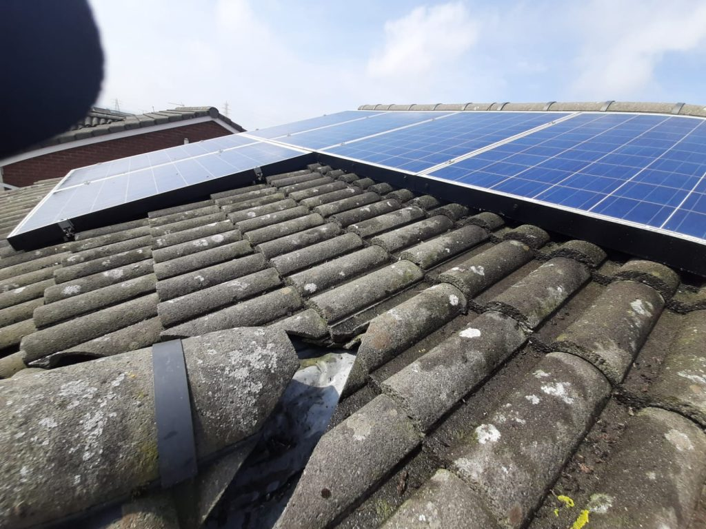 bird proofing solar panels in Saltcoats, Ayrshire
