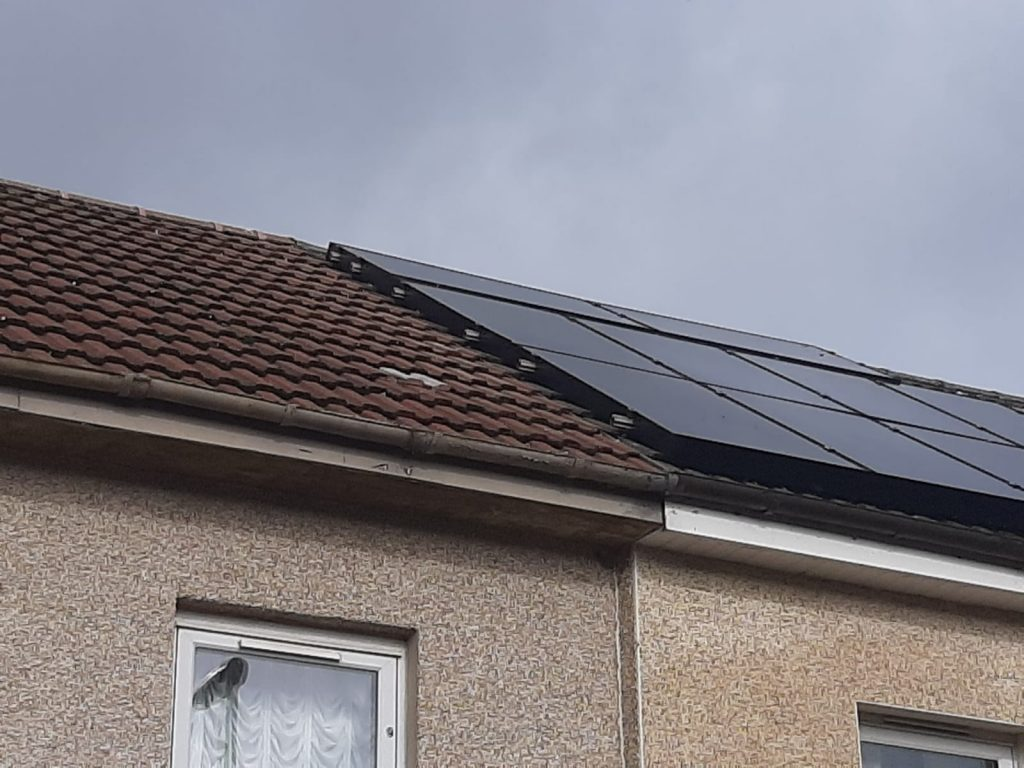after solar panel bird proofing in Kennoway, Fife